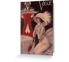 Vogue 1909 Greeting Card
