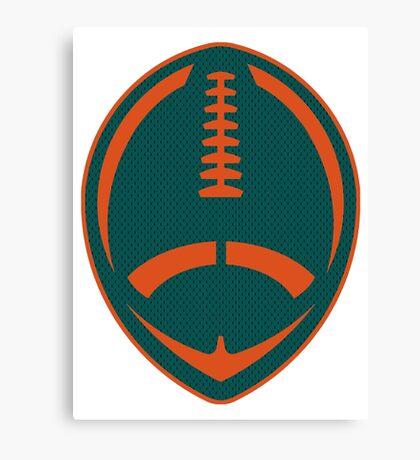 Vector Football - Dolphins Canvas Print