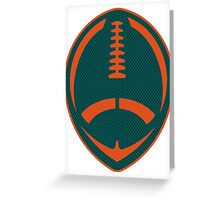 Vector Football - Dolphins Greeting Card