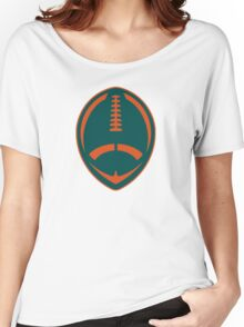 Vector Football - Dolphins Women's Relaxed Fit T-Shirt