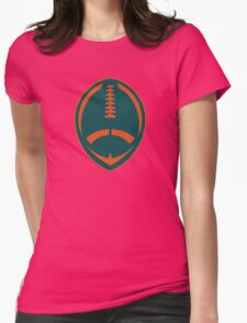 Vector Football - Dolphins Womens Fitted T-Shirt