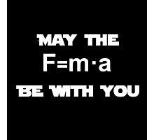 Star Wars Physics Force Black Photographic Print