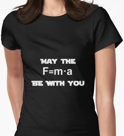 Star Wars Physics Force Black Womens Fitted T-Shirt