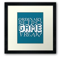 Game Retro freak Framed Print
