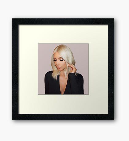 Blonde Kim Kardashian West  Framed Print