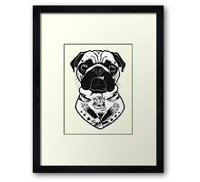 Tattooed Dog - Pug Framed Print
