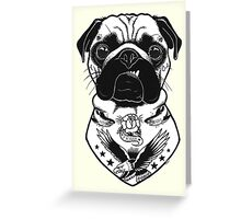 Tattooed Dog - Pug Greeting Card