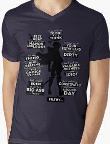 Levi quotes Mens V-Neck T-Shirt