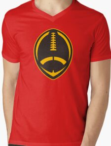 Vector Football - Steelers Mens V-Neck T-Shirt