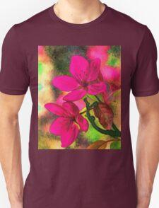 Flowers pink rosa orange Unisex T-Shirt
