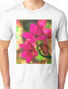 Flowers pink rosa orange Unisex T-Shirt