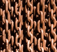 Rusted chains Sticker