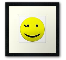 Smiley Happy Text Character Framed Print