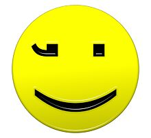 Smiley Happy Text Character Photographic Print