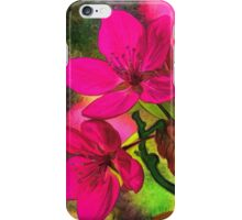 Flowers pink rosa orange iPhone Case/Skin