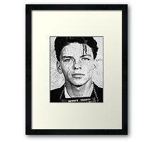 Sinatra mugshot Framed Print
