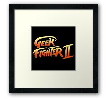 Street Fighter II - Geek Fighter II Framed Print