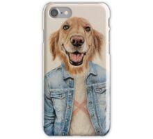 happy dog cowboy iPhone Case/Skin