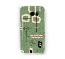 Mid-Century Modern Green Abstract Samsung Galaxy Case/Skin