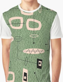 Mid-Century Modern Green Abstract Graphic T-Shirt
