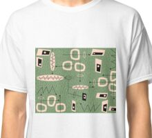 Mid-Century Modern Green Abstract Classic T-Shirt