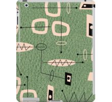 Mid-Century Modern Green Abstract iPad Case/Skin