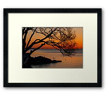 Colorful Quiet Sunrise on the Lake  Framed Print