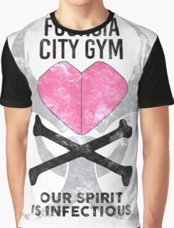 Fuchsia City Gym Graphic T-Shirt