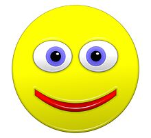 Smiley With Big Blue Eyes Photographic Print