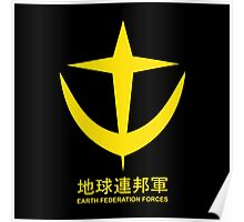 Gundam EFS Earth Federation Force Logo Poster