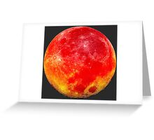 Blood Moon Bright Greeting Card