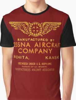 Cessna vintage Aircraft Graphic T-Shirt
