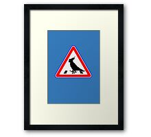 Bird-Crosswalk Framed Print