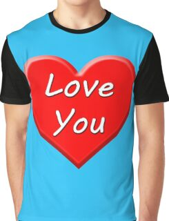 Love You (Heart) Graphic T-Shirt