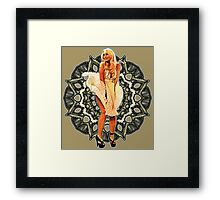 Lindsay Marilyn Lace White Glow Framed Print