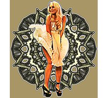 Lindsay Marilyn Lace White Glow Photographic Print