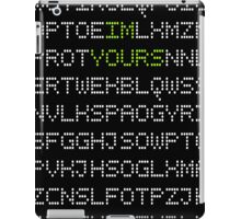 I'M YOURS CODING LETTERS iPad Case/Skin