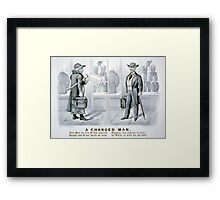 A changed man - Currier & Ives - 1880 Framed Print