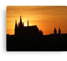 Sunset in Prag Canvas Print