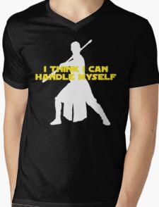 Rey - I Think I Can Handle Myself - Large Design Mens V-Neck T-Shirt