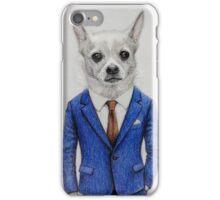 Mr dog portrait iPhone Case/Skin