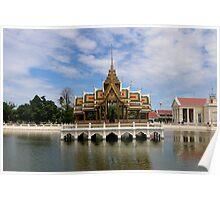 Thailand - Ayutthaya - Aisawan Dhiphya-Asana Pavilion Poster
