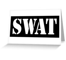 AMERICAN, SWAT, Special Weapons and Tactics Teams, Military  Greeting Card