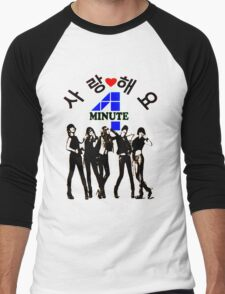 ♥♫SaRangHaeYo(Love) Hot Fabulous K-Pop Girl Group-4Minute Cool K-Pop Clothes & Phone/iPad/Laptop/MackBook Cases/Skins & Bags & Home Decor & Stationary♪♥ Men's Baseball ¾ T-Shirt