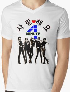 ♥♫SaRangHaeYo(Love) Hot Fabulous K-Pop Girl Group-4Minute Cool K-Pop Clothes & Phone/iPad/Laptop/MackBook Cases/Skins & Bags & Home Decor & Stationary♪♥ Mens V-Neck T-Shirt