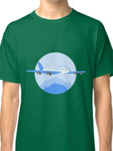 Blue Jet Plane Over Forest Classic T-Shirt