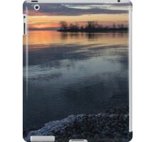 Icy Sunrise - Winter Waterfront Serenity iPad Case/Skin