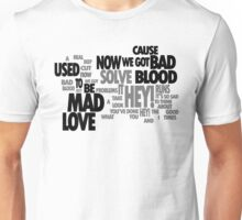 Lyric Cloud - Bad Blood Unisex T-Shirt
