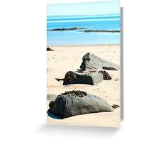 Beach boulders Greeting Card