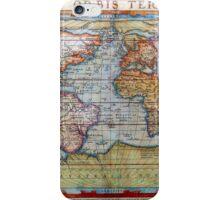 Colorful Antique Vintage World Map Ortelius iPhone Case/Skin